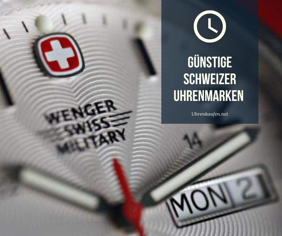 Günstige Schweizer Uhrenmarken ▷ Automatik und Quarzuhren