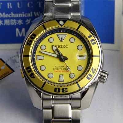 seiko sumo SBDC017 yellow